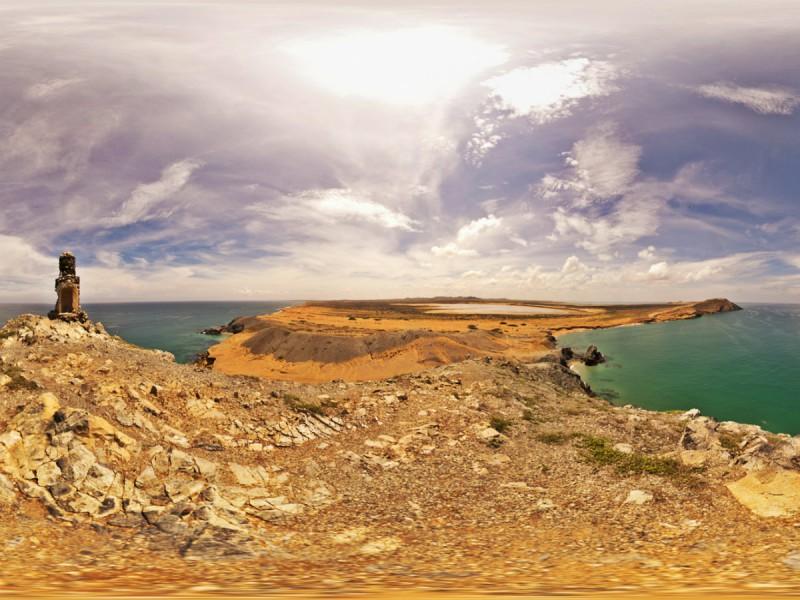 Paisajes de La Guajira: fusión entre desierto y mar