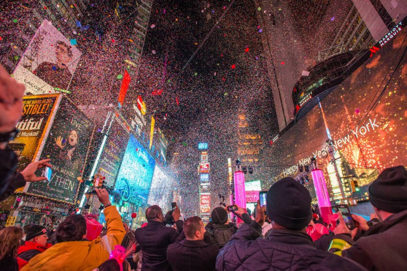 ¡Celebración de fin de año en Nueva York!