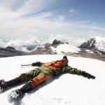 Disfrutando de una de las cumbres de El Cocuy