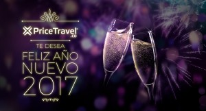PriceTravel le desea un Feliz Año Nuevo 2017